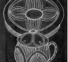 Tea Set for One (Old Sketch Invert) by onejyoo