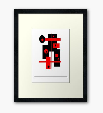 abstract minimal # 3 Framed Print