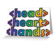 GEEKS 4 PEACE - OPEN HEAD, OPEN HEART, OPEN HANDS Greeting Card