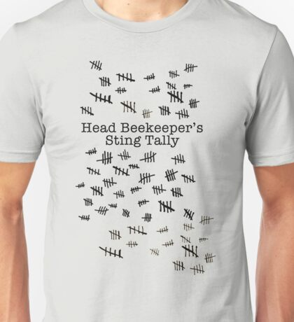 Head Beekeeper's Sting Tally Unisex T-Shirt