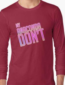 Anaconda Text Only Long Sleeve T-Shirt