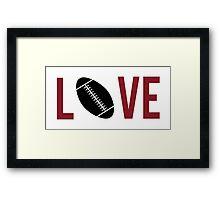 Love Football (red) Framed Print