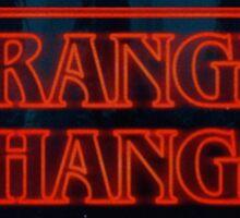 """stranger thangs"" - the walking dead and stranger things sticker Sticker"