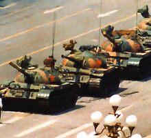 Tank Man Painting by LibertyManiacs