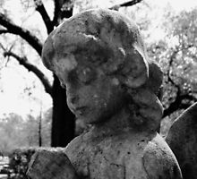 Praying Girl On Cold Winters Day by Nathan Little