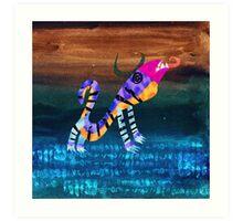 Childhood Dragons - the Night Beast Art Print