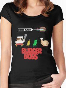 Burger Boss Women's Fitted Scoop T-Shirt