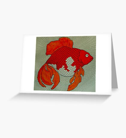 Transcendental Goldfish  Greeting Card