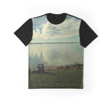 Dawn Breaks Blue Graphic T-Shirt