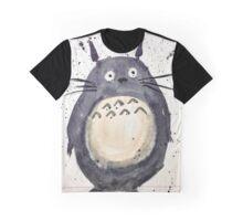 Totoro Splash Watercolor Art  Graphic T-Shirt