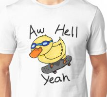 """dave the rad duck - """"aw hell yea"""" Unisex T-Shirt"""