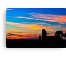 The Simple Life - Sunset Rural Landscape Canvas Print