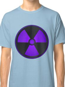 Purple Radioactive Symbol Classic T-Shirt