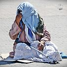 Beggar in Morocco by Julie Sleeman