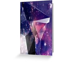New Age Surreal Universe Faceted Geometric Print Greeting Card