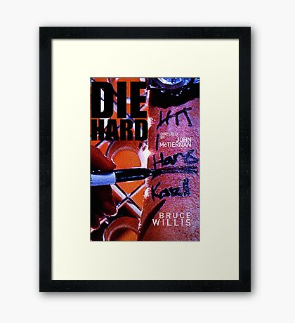 DIE HARD 20 Framed Print