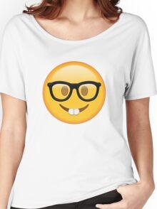 Nerd Glasses Buckteeth Emoji Design Women's Relaxed Fit T-Shirt