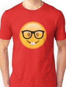 Nerd Glasses Buckteeth Emoji Design Unisex T-Shirt