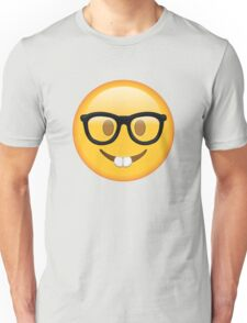 Nerd Glasses Buckteeth Emoji Design Unisex T-Shirt