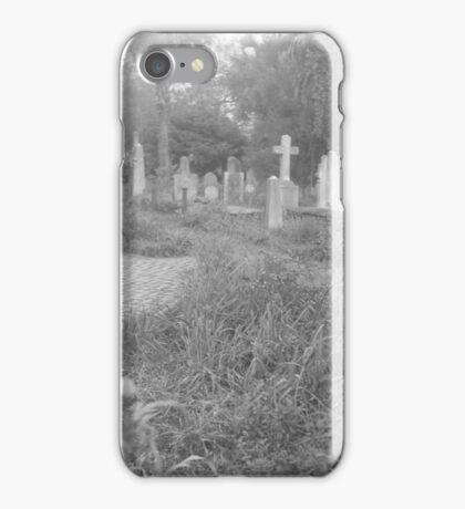Path Through the Cemetery iPhone Case/Skin