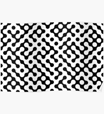 Continuous   halftone background Poster