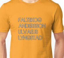 ABBA the four fabulous SURNAMES II design! Unisex T-Shirt