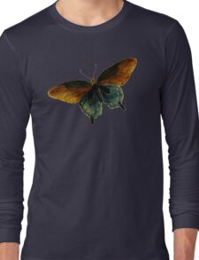 Butterfly Vintage Illustration Retro Cool Art Hippie Indie Design T-Shirts Long Sleeve T-Shirt