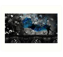 Another world 04 blue Art Print