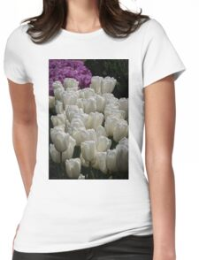 Group of White and Purple Blue Tulips at Tesselaar Victoria Australia 20160923 7575  Womens Fitted T-Shirt