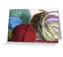 Goodness! Gracious! Great Balls of Yarn! Greeting Card