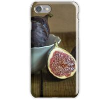 Still life with fresh figs iPhone Case/Skin