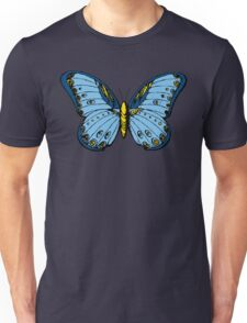 Blue Butterfly Cool Design Illustration Art Vintage T-Shirts Unisex T-Shirt
