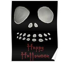 Happy Halloween, skeleton, skulls eyes, face Poster