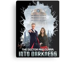 The Doctor and Clara: Into Darkness Metal Print