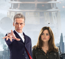 The Doctor and Clara: Into Darkness Sticker