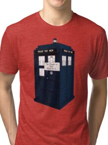 The Doctor is Out Back in 5 II Tri-blend T-Shirt