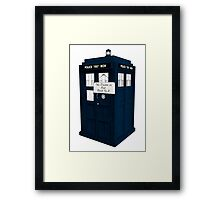 The Doctor is Out Back in 5 II Framed Print