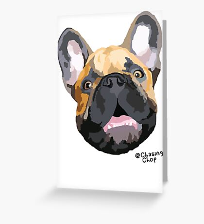 The Chop face Greeting Card
