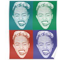 Miley meets Warhol Poster