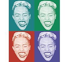 Miley meets Warhol Photographic Print