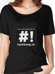Hashbang.sh - White Women's Relaxed Fit T-Shirt