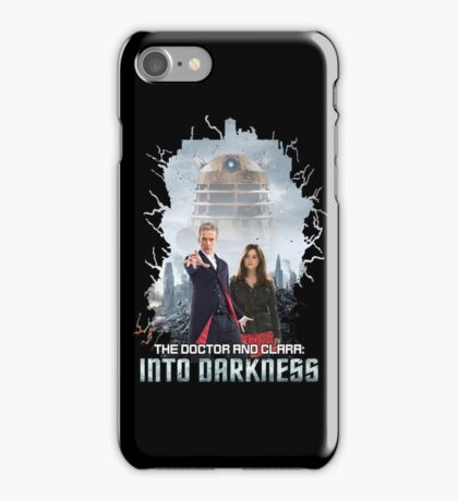 The Doctor and Clara: Into Darkness iPhone Case/Skin