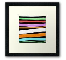 Pastel Brush Stokes Framed Print