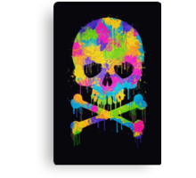 Abstract Trendy Graffiti Watercolor Skull  Canvas Print