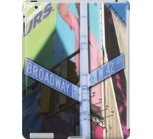 42nd and broadway iPad Case/Skin