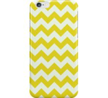 Beautiful bright yellow retro Chevron pattern  iPhone Case/Skin