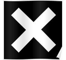 White X on Black Poster