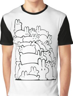 Bun Pile - Black and White Graphic T-Shirt