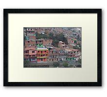 Itagui, Columbia color splash Framed Print
