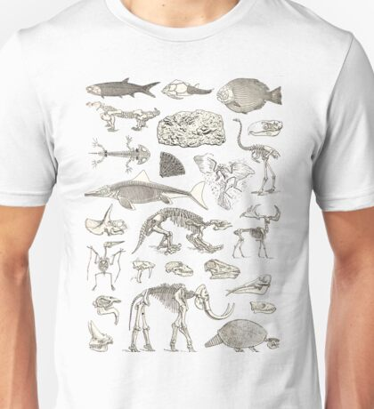 Paleontology Illustration Unisex T-Shirt